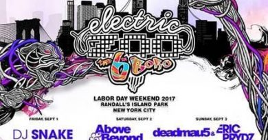 ELECTRIC ZOO Music Festival Sept 1-3 NYC Announces Day By Day Line-Up